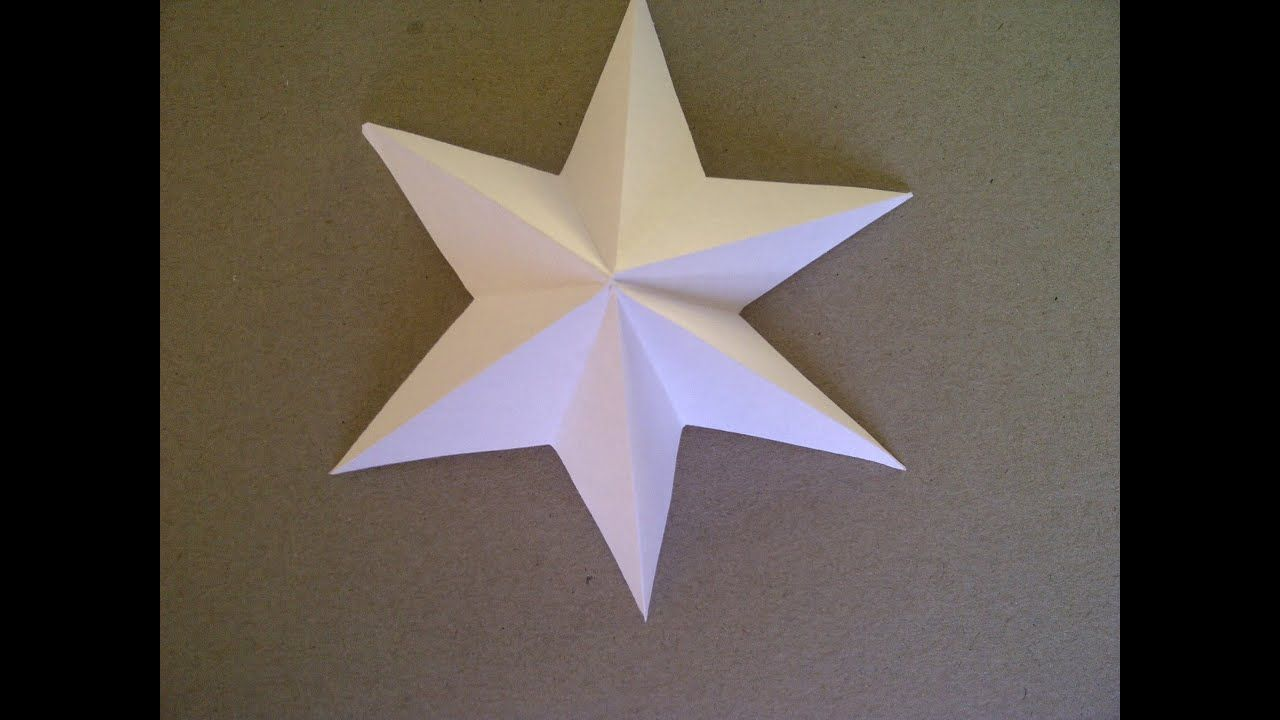 3D-Sterne basteln.  6-zackiger Stern aus Papier falten sehr einfach. - YouTube #3dsterneauspapier