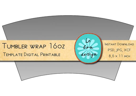 Collage Sheet Digital Tumbler Clip Art Template Cricut Tumblers