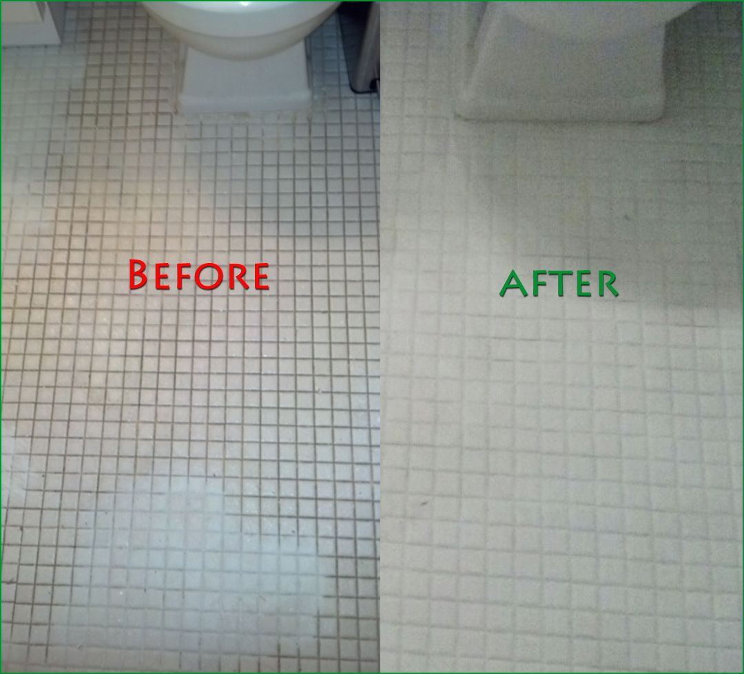 Renew Bathroom Tiles: Used Polyblend Snow White Grout Renew On The Bathroom