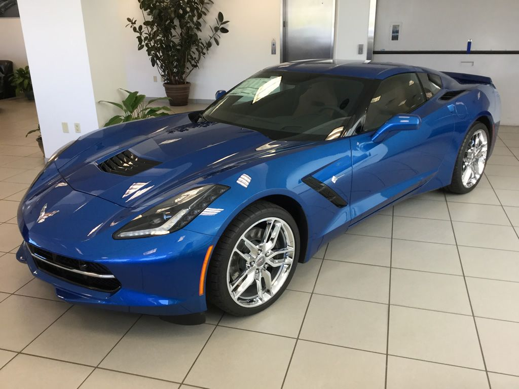 2016 Corvette Stingray Z51 Coupe In Laguna Blue Metallic Tintcoat With Kalahari Interior And The 2lt Trim Package Corvette Stingray Corvette Chevy Corvette