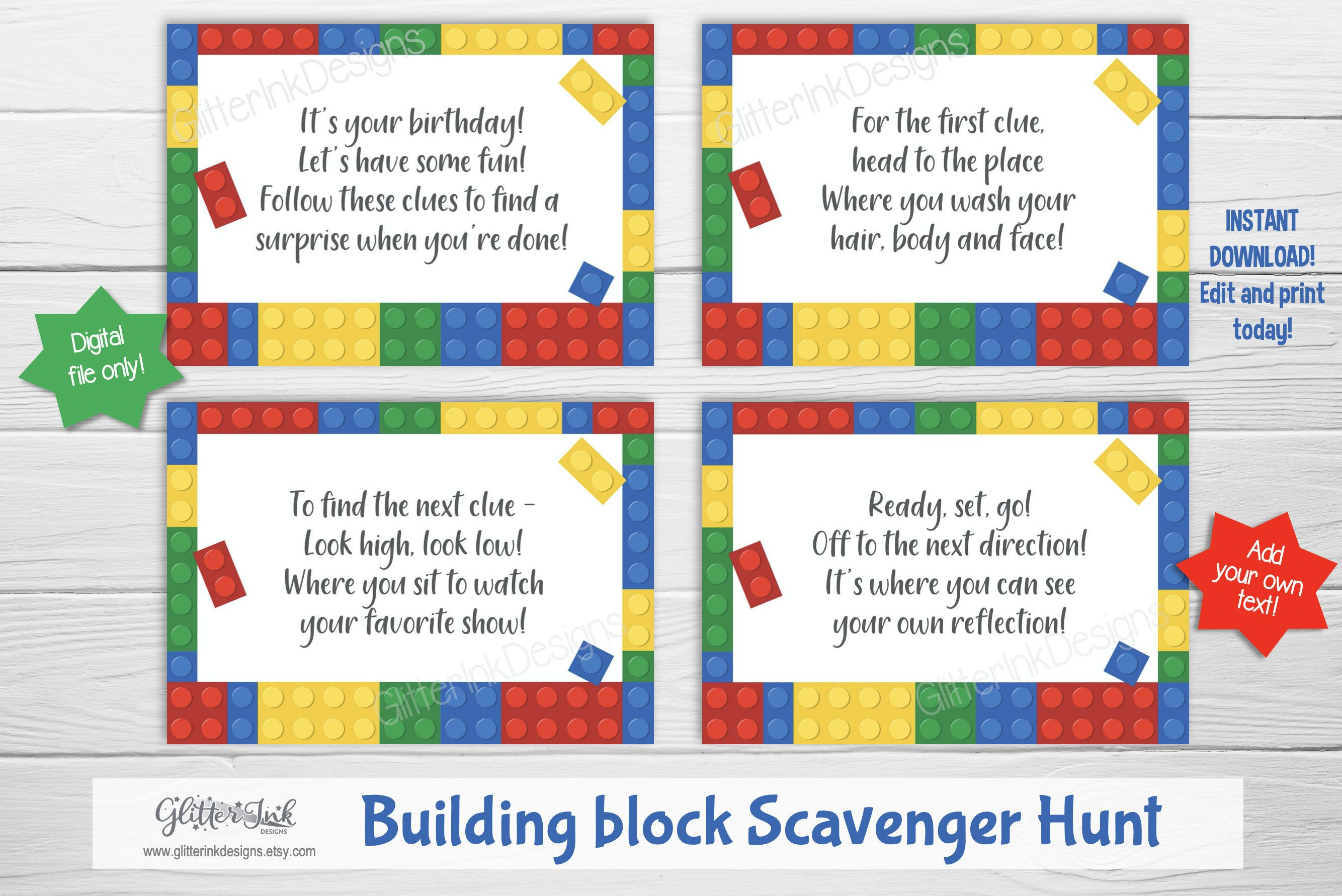 Pin on Lego colorful building block birthday party