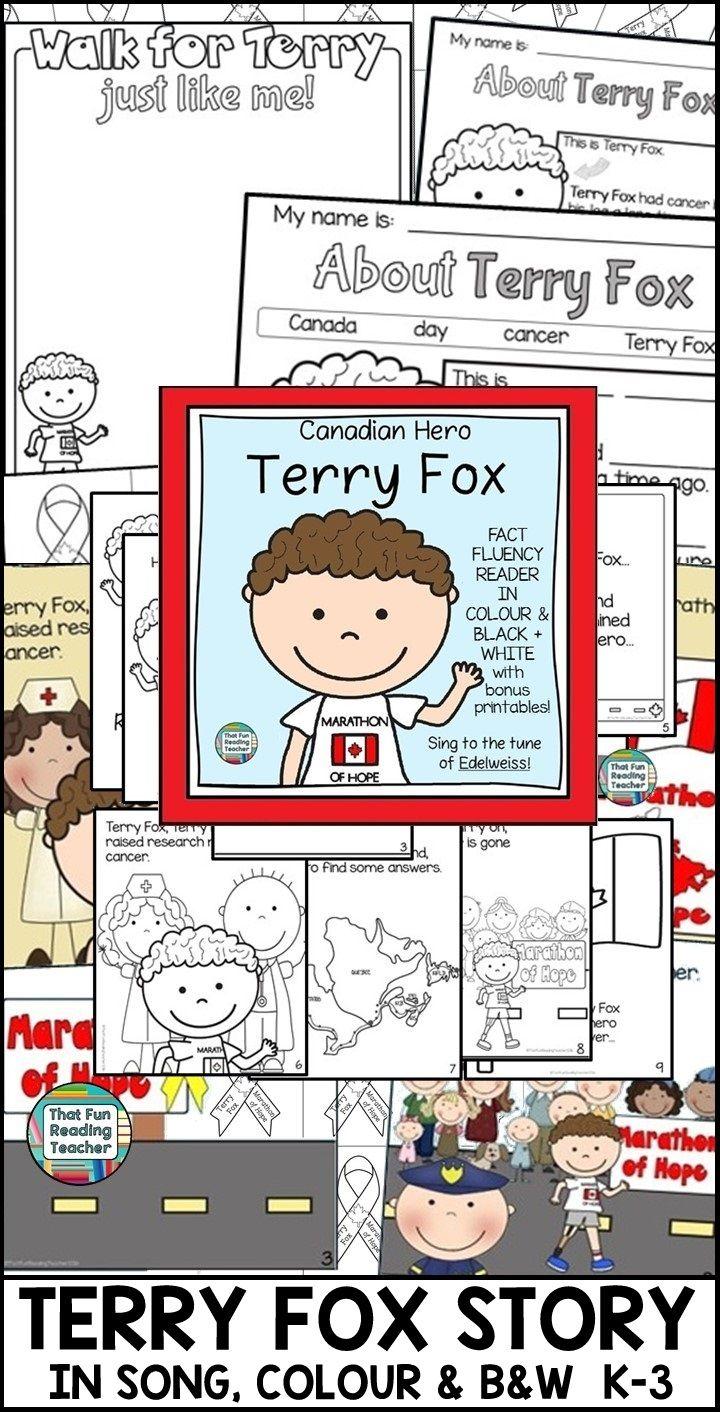 Terry Fox Distance Learning Kindergarten Activities Kindergarten Lessons First Grade Lessons