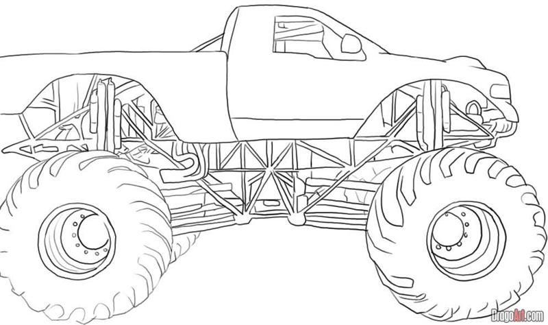 trucks coloring pages monster trucks colouring pages truck for ... - Grave Digger Truck Coloring Pages