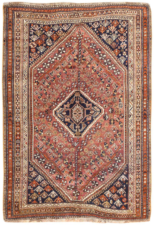 Tribal Antique Persian Qashqai Rug 50414 By Nazmiyal Tribal And