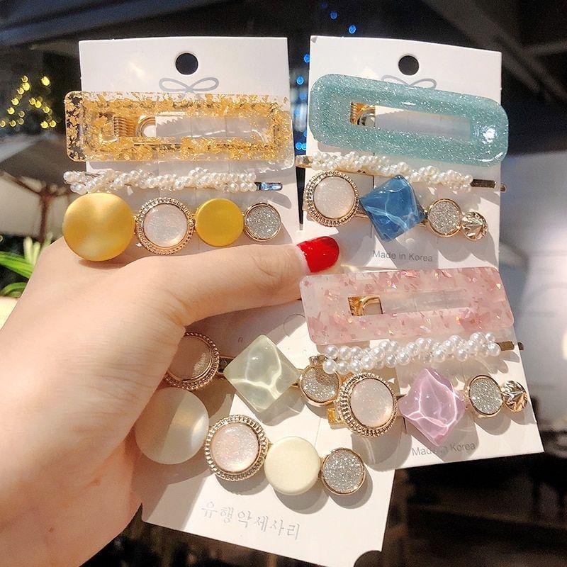 3pcs//set Women Girls Crystal Pearl Hairpin Hair Barrette Clips Headwear Gifts