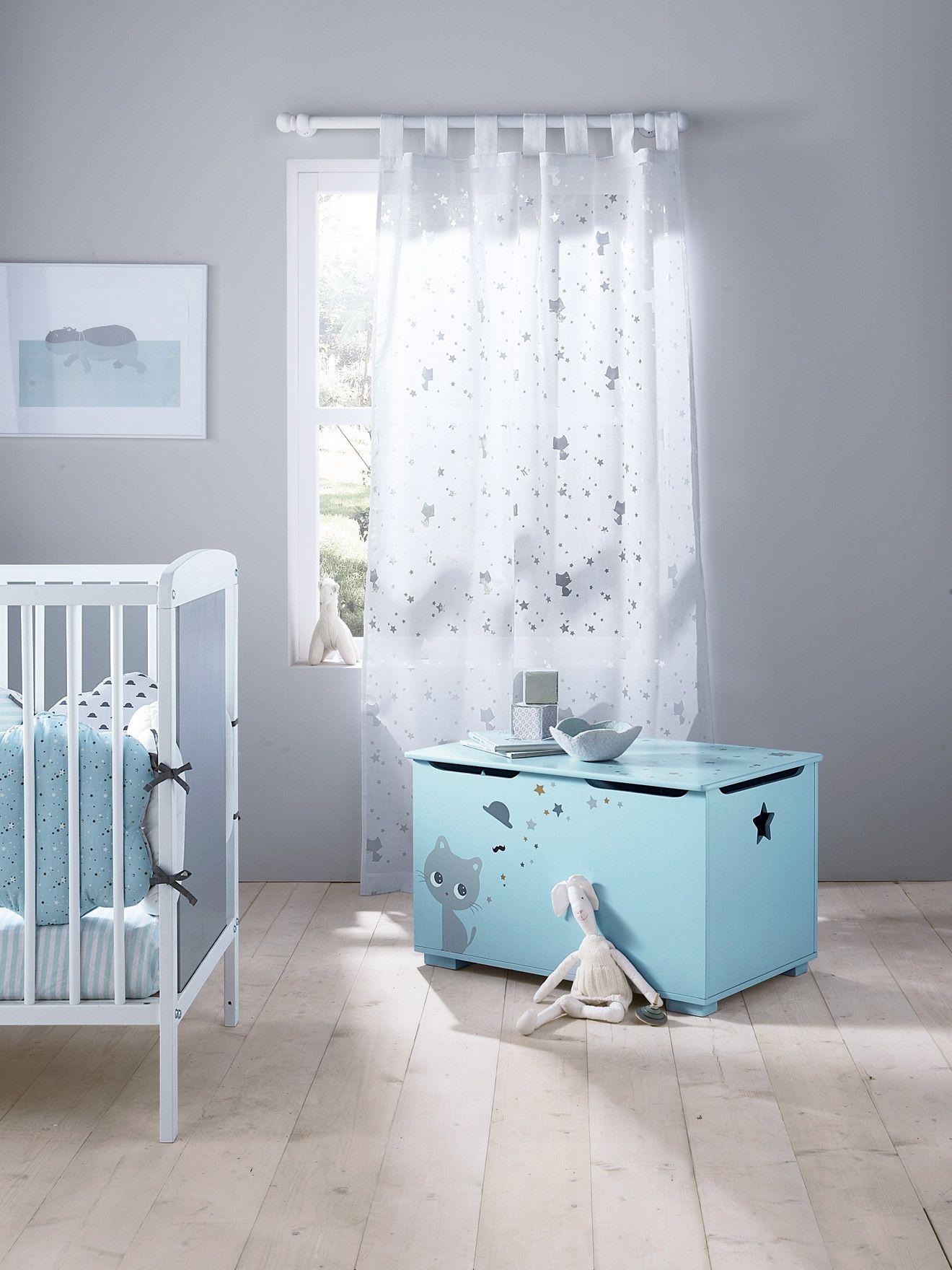 Cortina para beb con gatito tema gatitos habitaci n for Cortinas para cuarto de bebe
