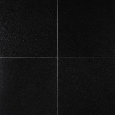 Msi Premium 12 X 12 Granite Field Tile In Black Wayfair In 2020 Black Floor Tiles Granite Flooring Natural Stone Tile