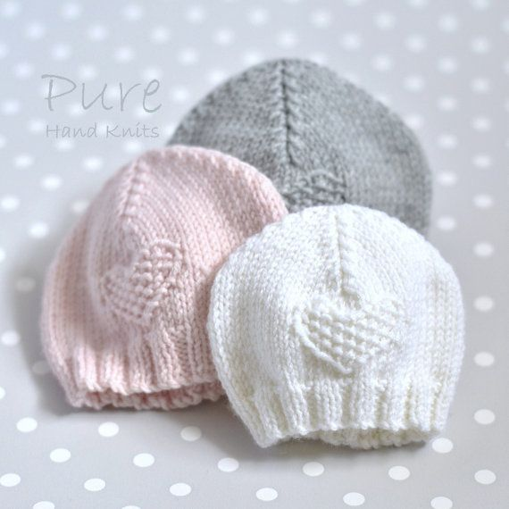 1678eb79a4c5 SIMPLE baby hat PREEMIE and NEWBORN knitting pattern