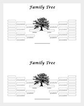 GenerationFamilyTreeSampleWordFree  Family Tree