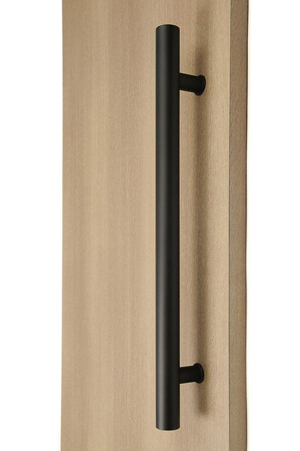Ladder Pull Handle Back To Back Black Powder Stainless Steel Finish Door Handles Sliding Door Handles Door Handles Modern