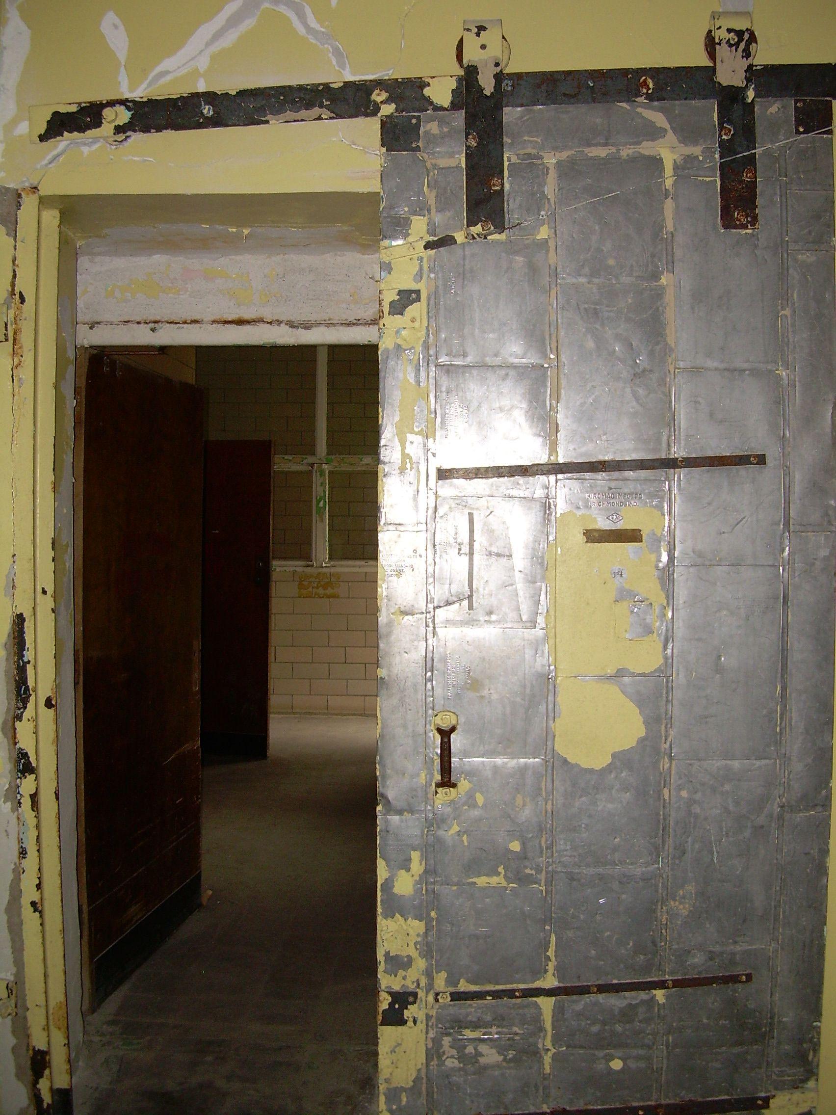 Old fire door in Civil War Wing & Old fire door in Civil War Wing | Trans-Allegheny Lunatic Asylum ...