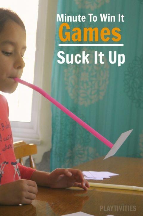 minute to win it games suck it up \u2026 Pinteres\u2026