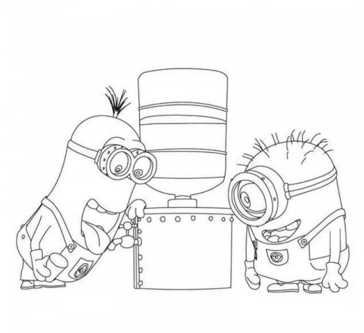 Minion maid coloring pages - Color Sheets