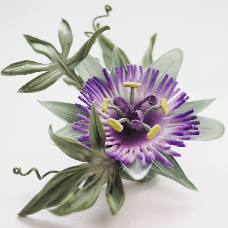 Pin On Flower Jewellery And Floral Hairpieces Crafted Using Silk Leather