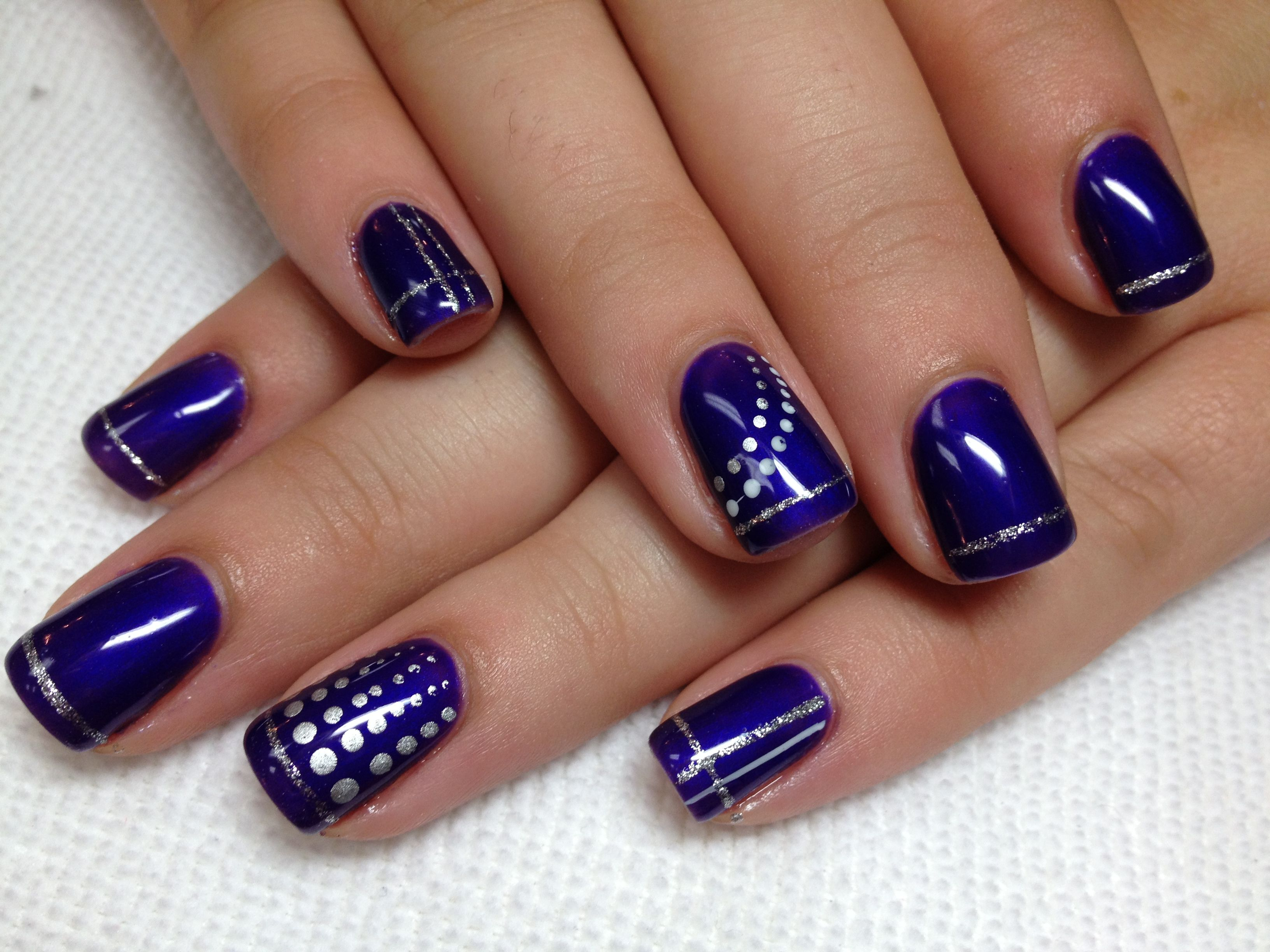 Shellac Nail Design Ideas best shellac nail designs shellac nails Purple Shellac W Silver Design
