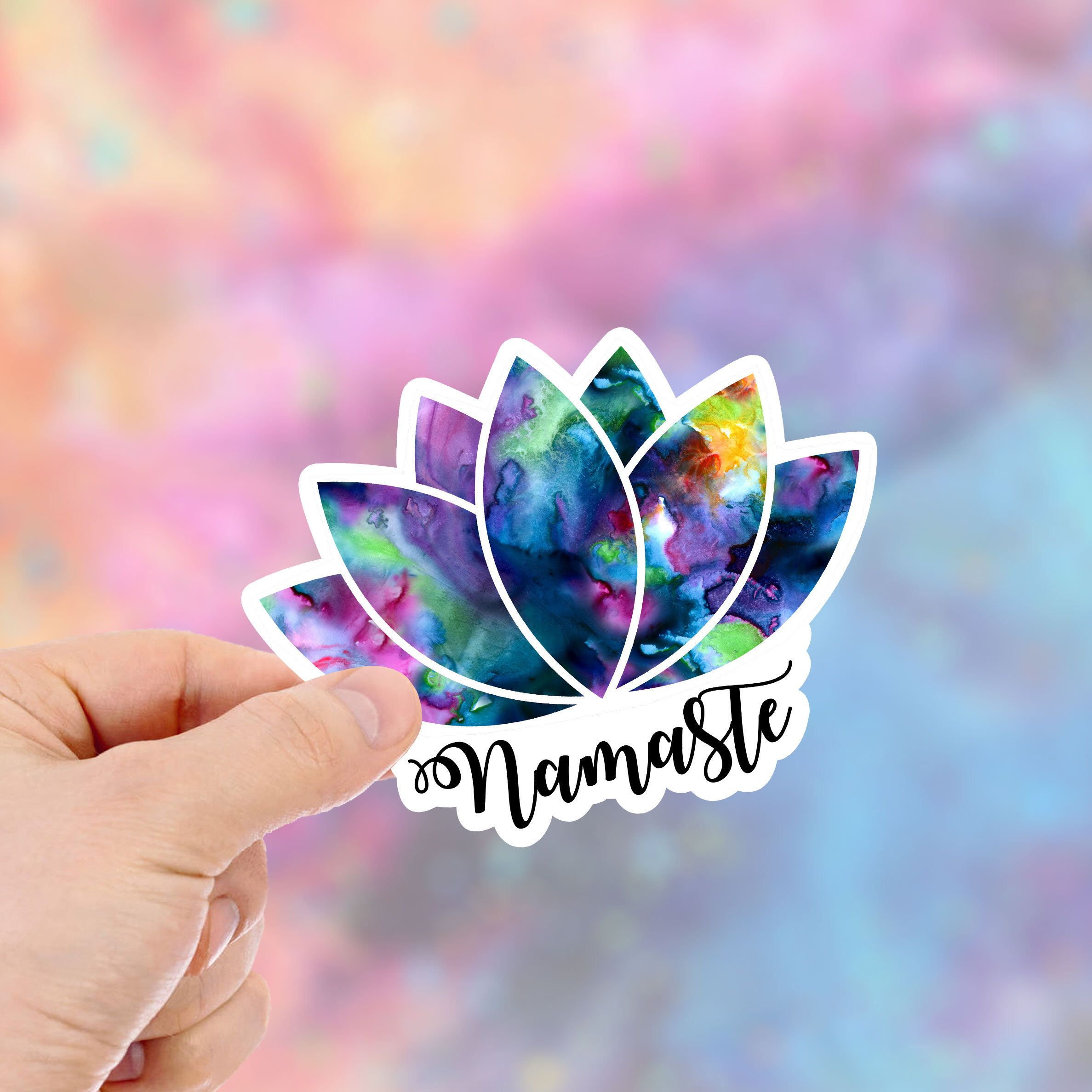 Excited To Share The Latest Addition To My Etsy Shop Lotus Flower Stickers Yoga Flower Namaste Sticker Laptop Yoga Flowers Origami Origami Paper Folding [ 2375 x 2375 Pixel ]