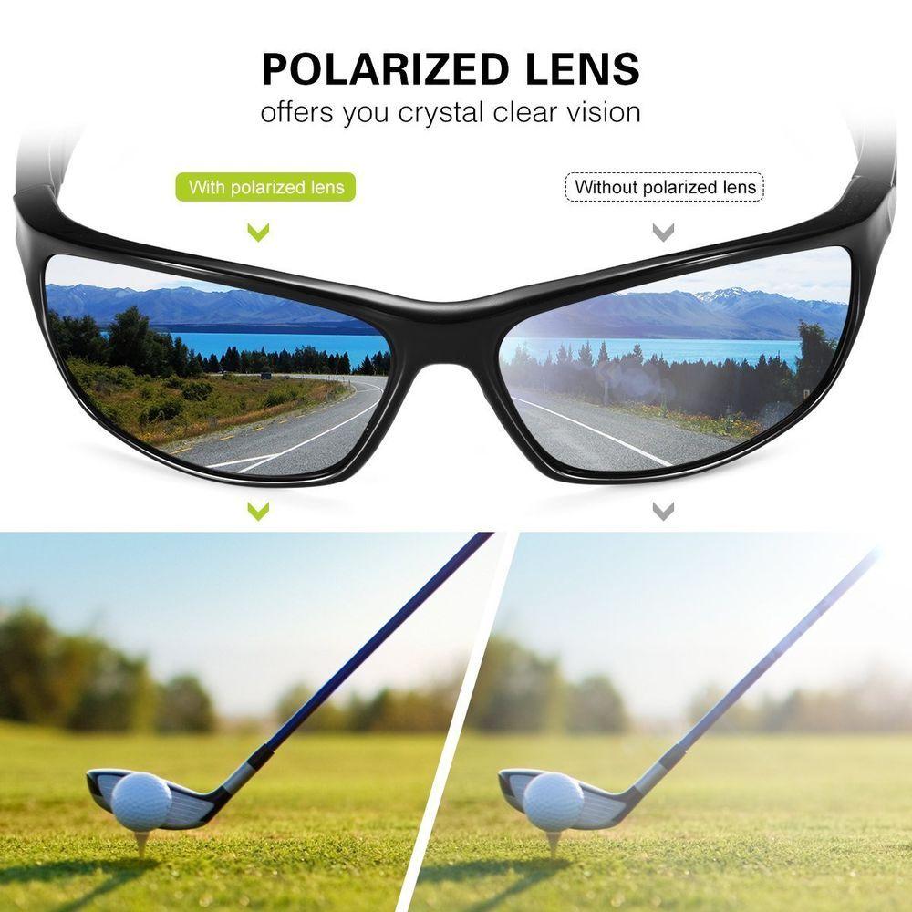 6065cf0c46 UV400 Men Women Polarized Lens Sports Sunglasses Outdoor Glasses TR90 Frame