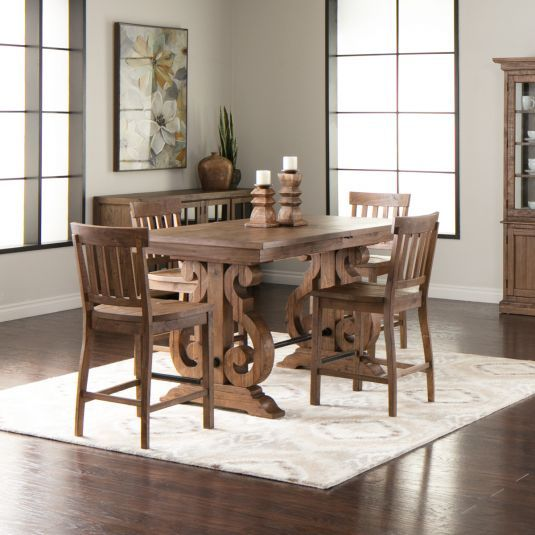 Hacienda Dining Collection Jerome S Furniture Home Decor Rustic