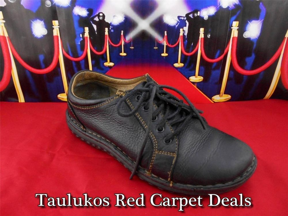 Womens shoes BØRN Black LEATHER Lace-up Oxfords Flats Sneakers sz US 8 EU 39 B #Brn #Oxfords
