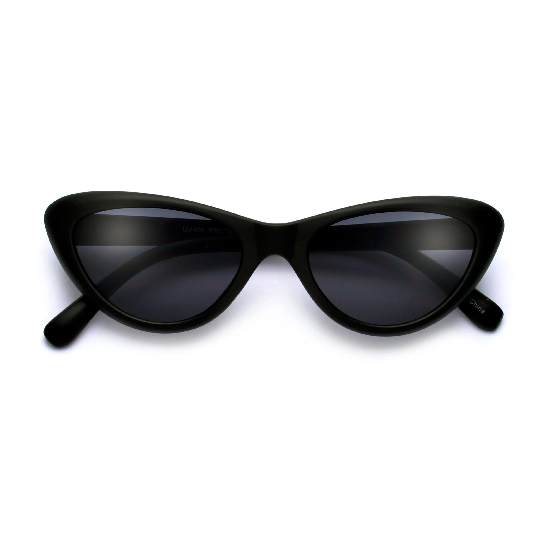 ec53866046b Edgy Retro Slim 52mm Cat Eye Sunglasses