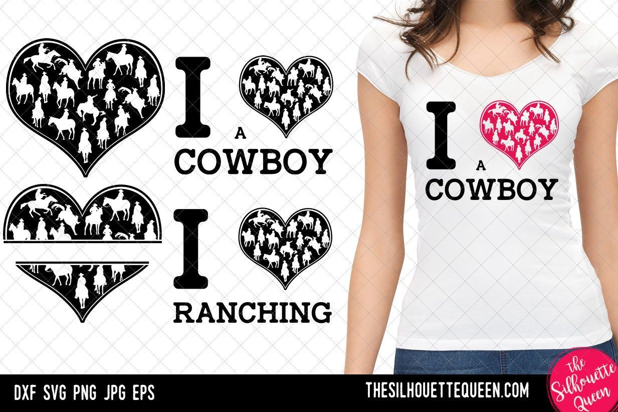 Download Cowboy heart SVG Valentines Day svg Heart Rancher svg Love ...