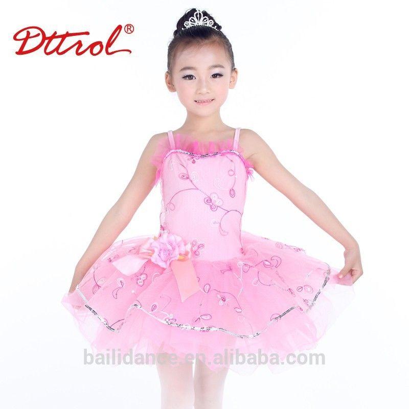 D008002 kids children embroidered pink ballet tutu dress for ...