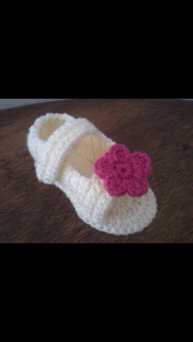 Zapatito a Crochet | Crochet | Pinterest | Zapatos
