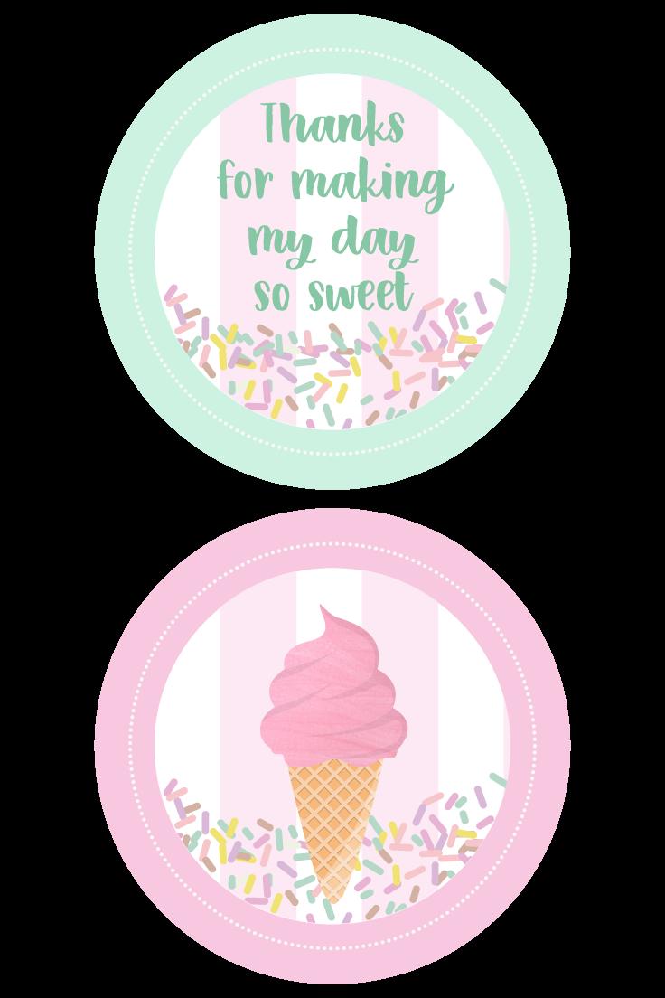 Ice Cream Party Stickers #icecreambirthdayparty
