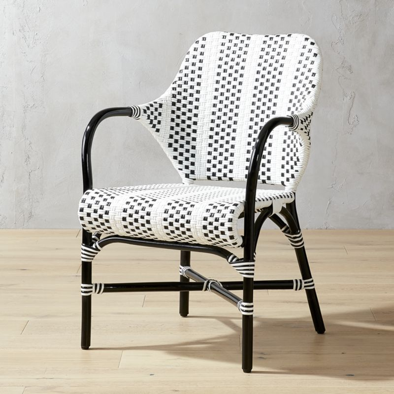 Shop Loomis Black And White Woven Chair Fresh Black And