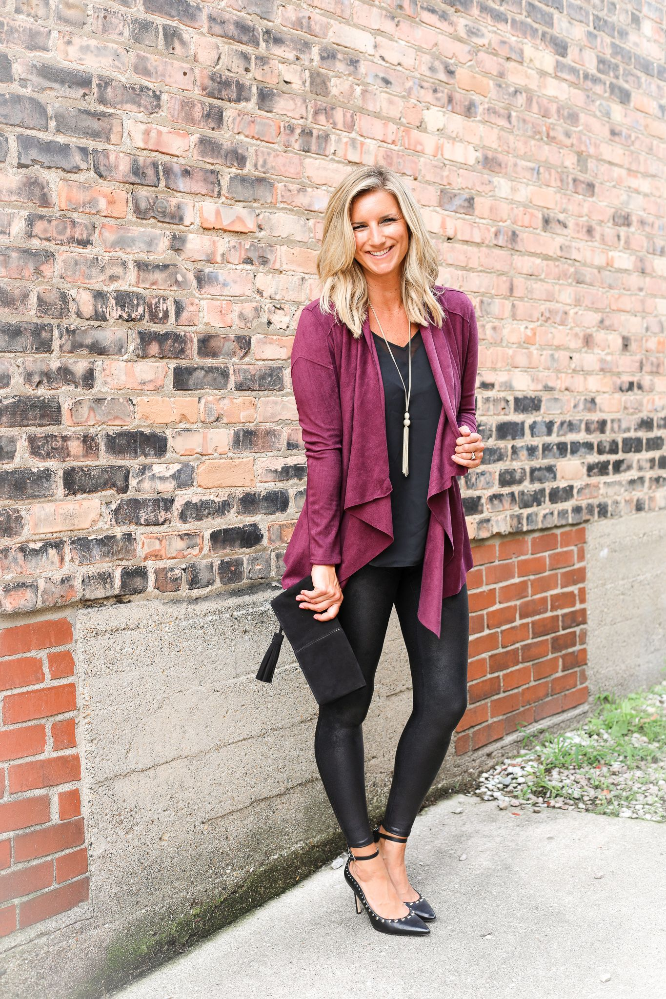 285a060b4946b How To Style Faux Leather Leggings [3 Ways - Work, Casual, Date Night!] -  Living in Yellow @nordstrom #nordstrom #ad