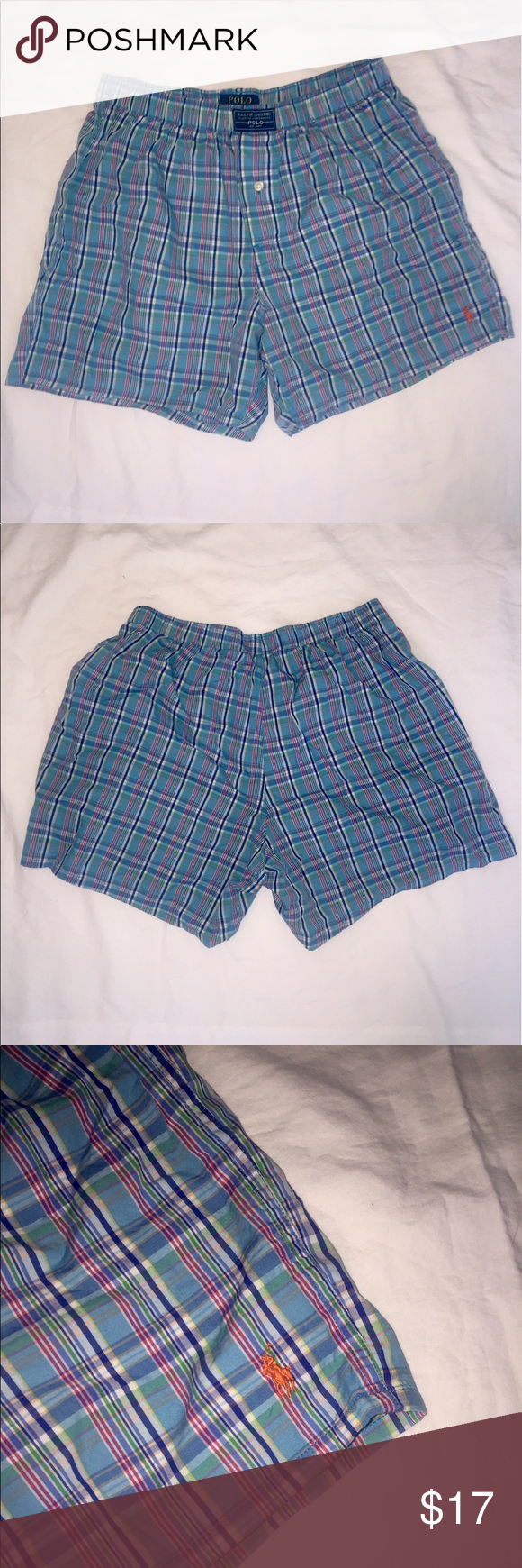 Polo Ralph Lauren boxer shorts I used these as sleep shorts about 2 times. Perfect condition  I have plenty more and just love the look of boxers on women. But if a man wants them that's perfectly fine too!! Might as well be new. Polo by Ralph Lauren Intimates & Sleepwear