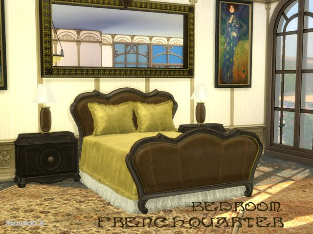 Sims 4 CC's - The Best: French Quarter Bedroom by ShinoKCR