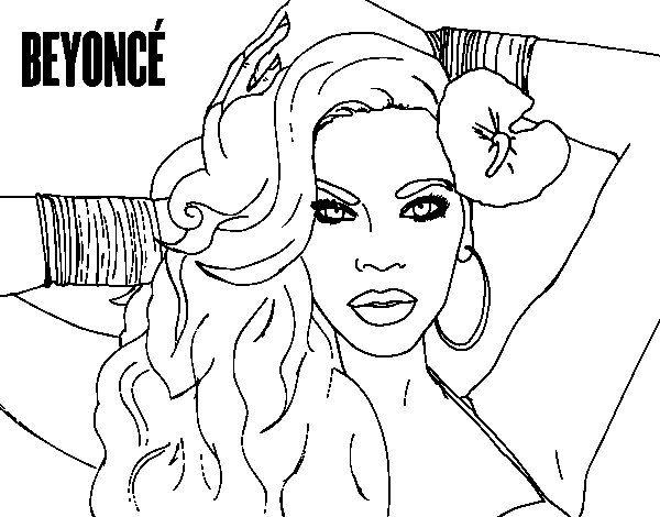 Beyoncé coloring page