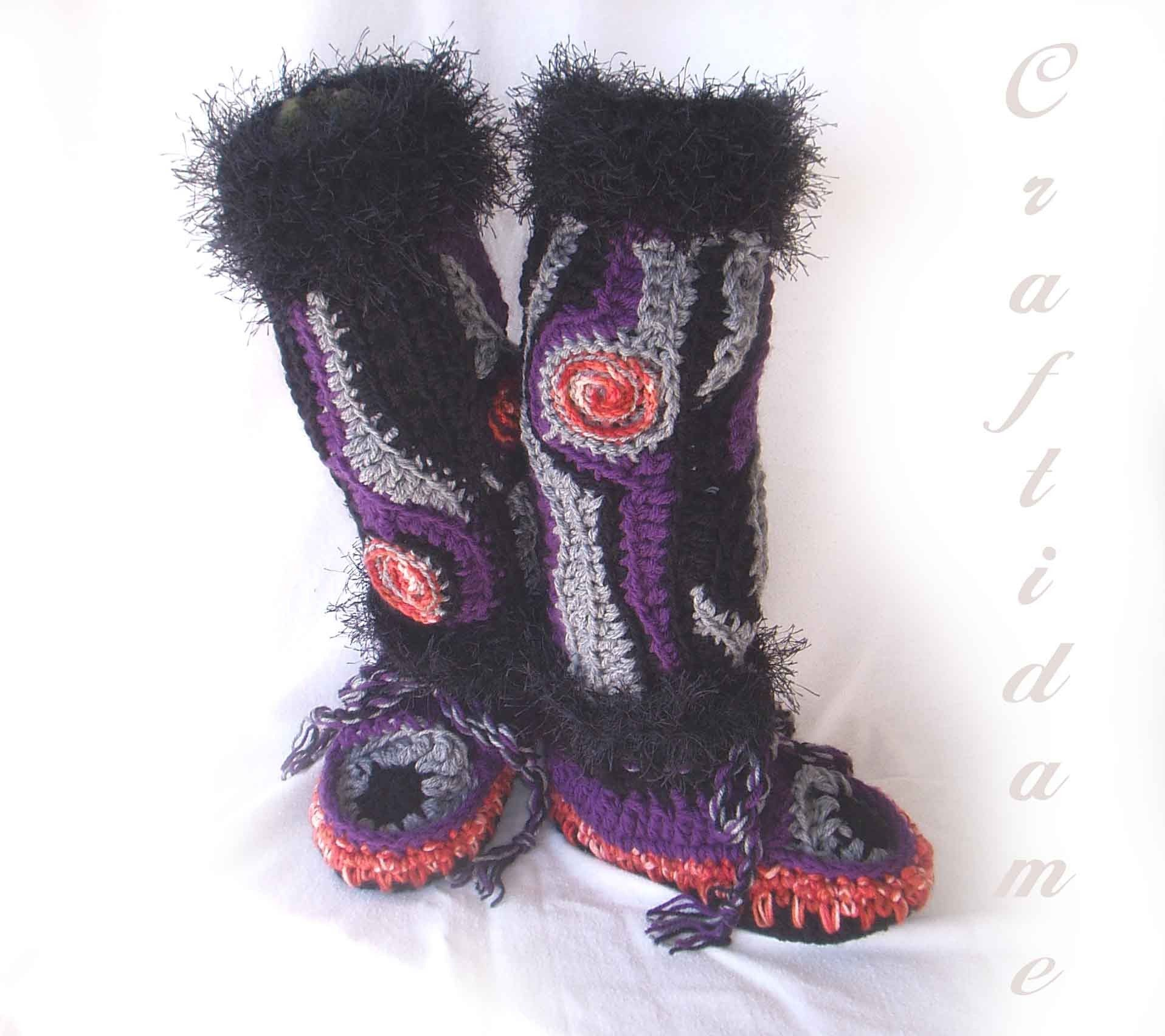 Crochet moccasin patterns for adults use our free crochet crochet moccasin patterns for adults use our free crochet pattern to make moccasin slippers for bankloansurffo Image collections