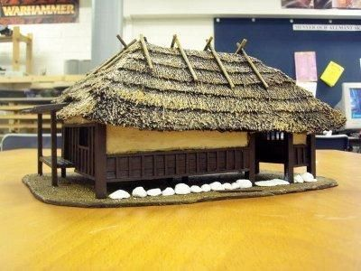 Making A 28mm Scale Thatched Roof