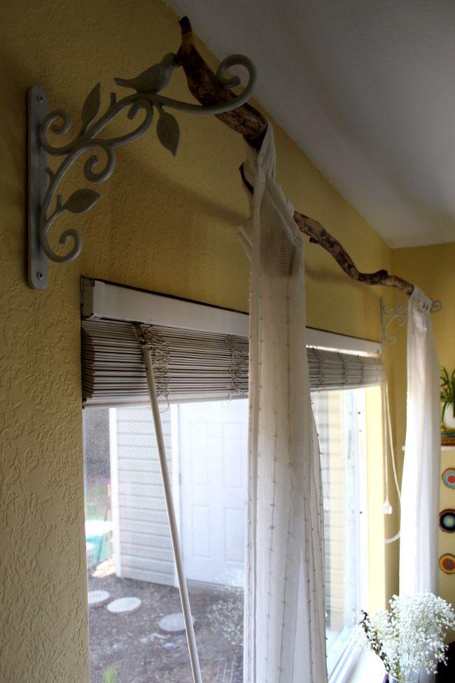 Diy Tree Branch Curtain Rod Home Home Decor Natural Home Decor