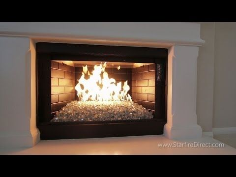 how to install an h burner and fire glass in your fireplace by rh pinterest com fireplace burner fire glass fireplace glass fire and ice