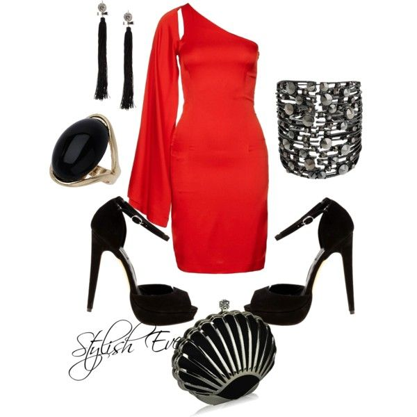 """""""Red Dress Outfit !"""" by stylisheve on Polyvore"""