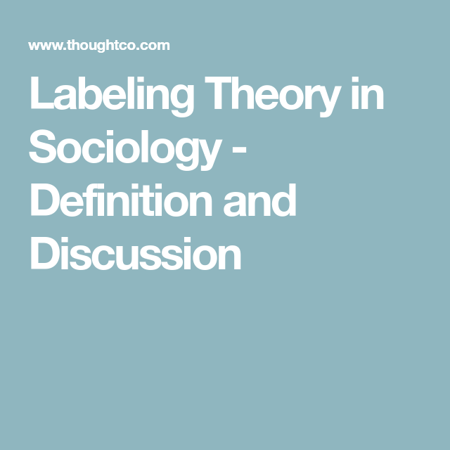 How Labeling Theory Can Help Us Understand Bias And