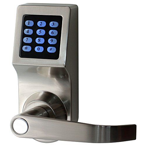 Henyin Digital Door Lock Unlock With M1 Card Code And Key Handle Direction Reversible Card Version Key Code Loc Digital Door Lock Coding Cool Tech Gadgets