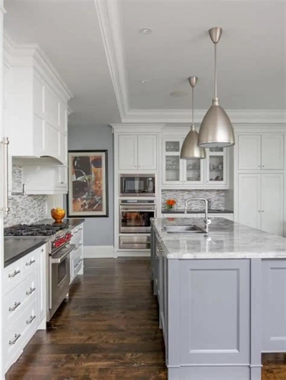 40 Stunning Transitional Kitchen Designs Ideas For 2019 22 Homenthusiastic In 2020 Transitional Kitchen Design Transitional Kitchen White Kitchen Design