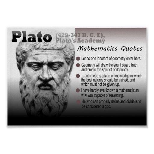 Plato Mathematics quotes Poster Math