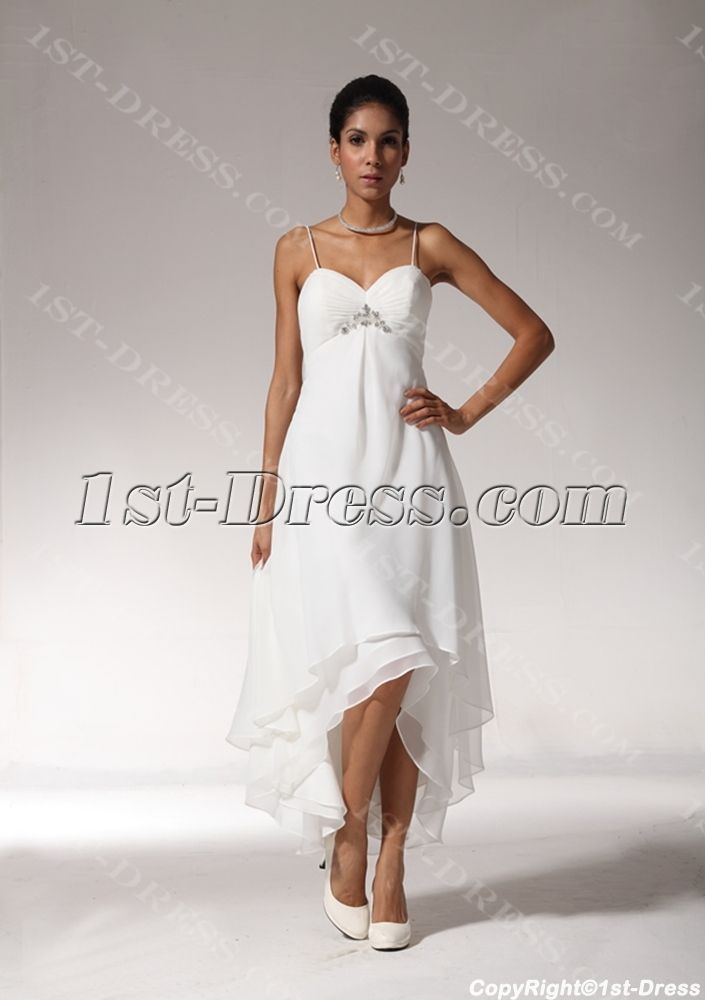 928af73205d3 casual beachy dress for mother of the bride | ... Casual Bridal Gowns >Sexy  High-low Hem Casual Beach Wedding Dresses