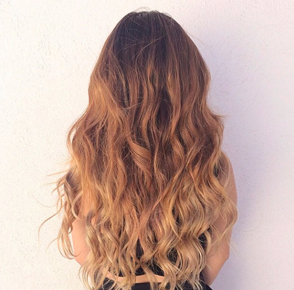Ombre Blonde T218 20 220g Soft Waves Hair Extensions And