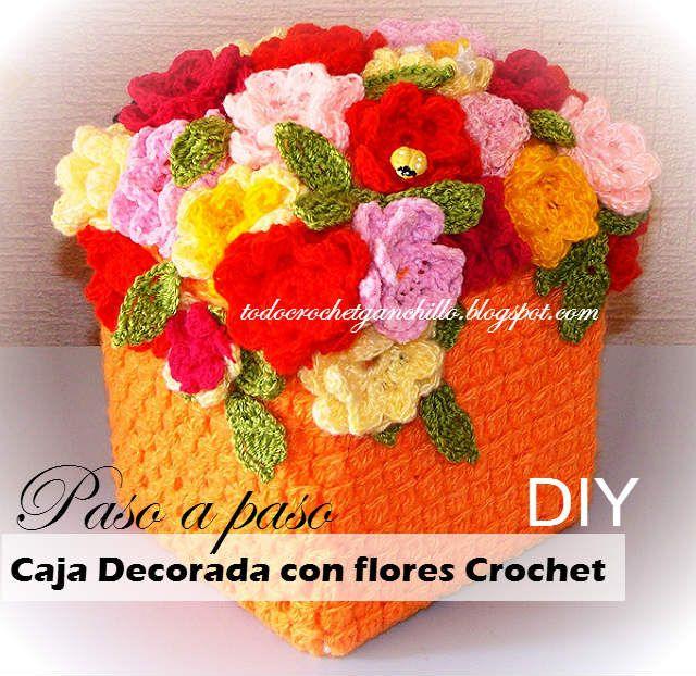 Todo crochet: Cofre para guardar souvenires ~ tutorial paso a pa...