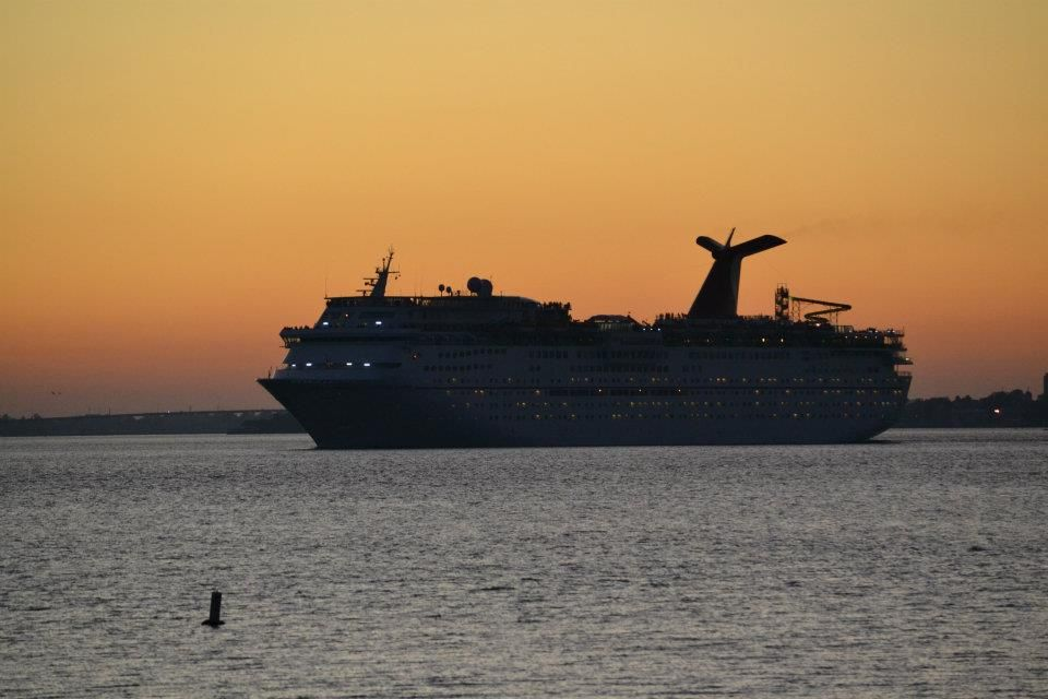 This Is The Carnival Cruise Ship Fantasy Leaving Charleston Harbor - Cruise ships out of charleston