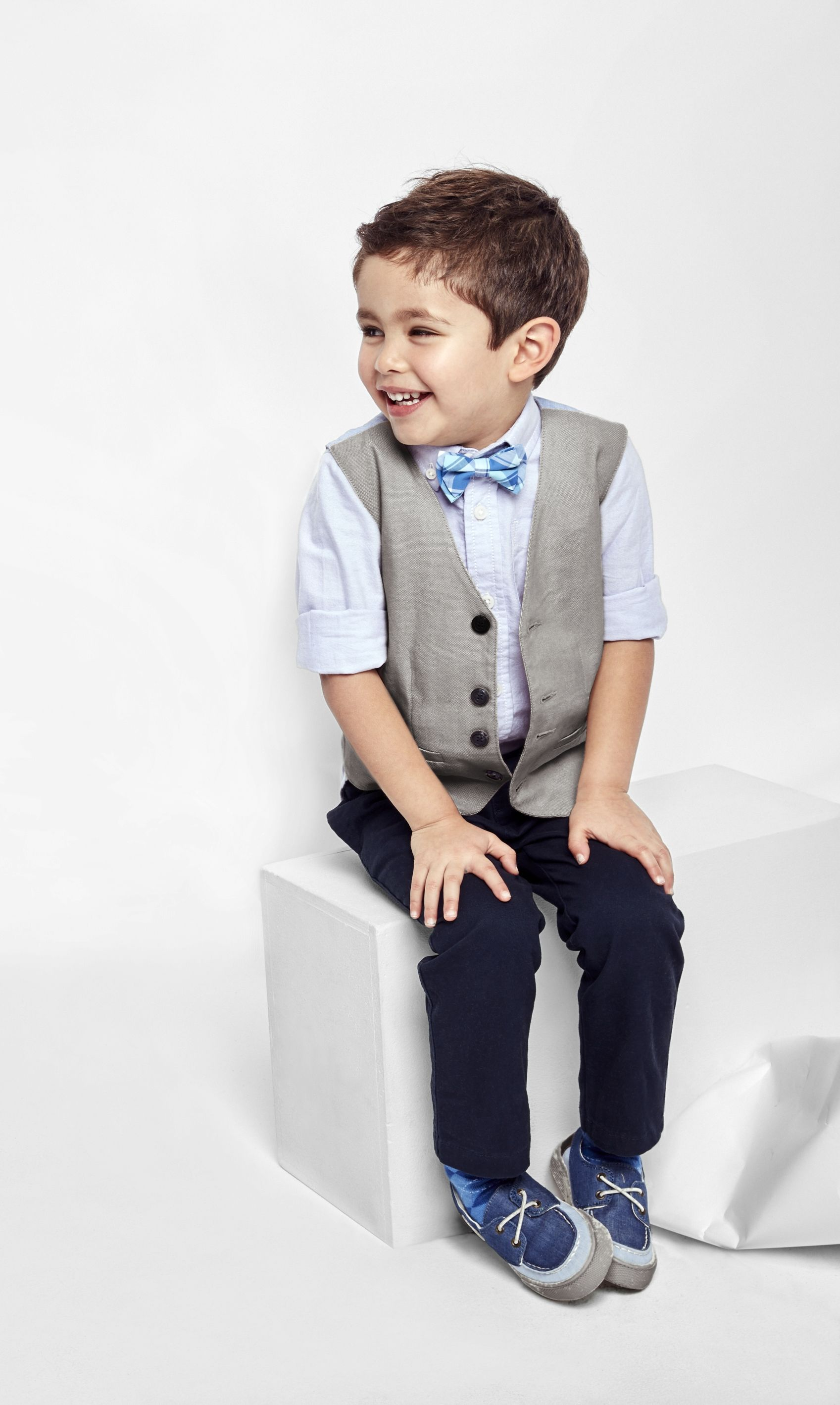 8491644ca Style for every little gentleman | Toddler boys' fashion | Woven shirt |  Dressy vest | Bow tie | Chinos | Shoes | Kids' fashion | The Children's  Place