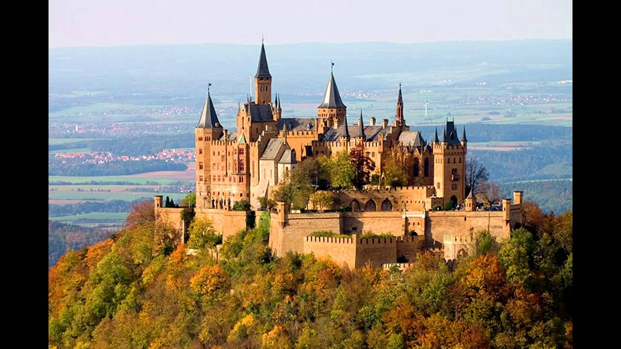 This Castle Is Located On Top Of Berg Hohenzollern At The Foothills Of The Schwabische Alb It Was First Germany Castles Hohenzollern Castle Beautiful Castles