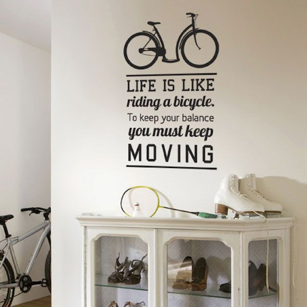 Life Is Like Riding A Bicycle To Keep Your Balance You Must Keep - Wall stickers for dining roomawesome dining room wall decals home design lover