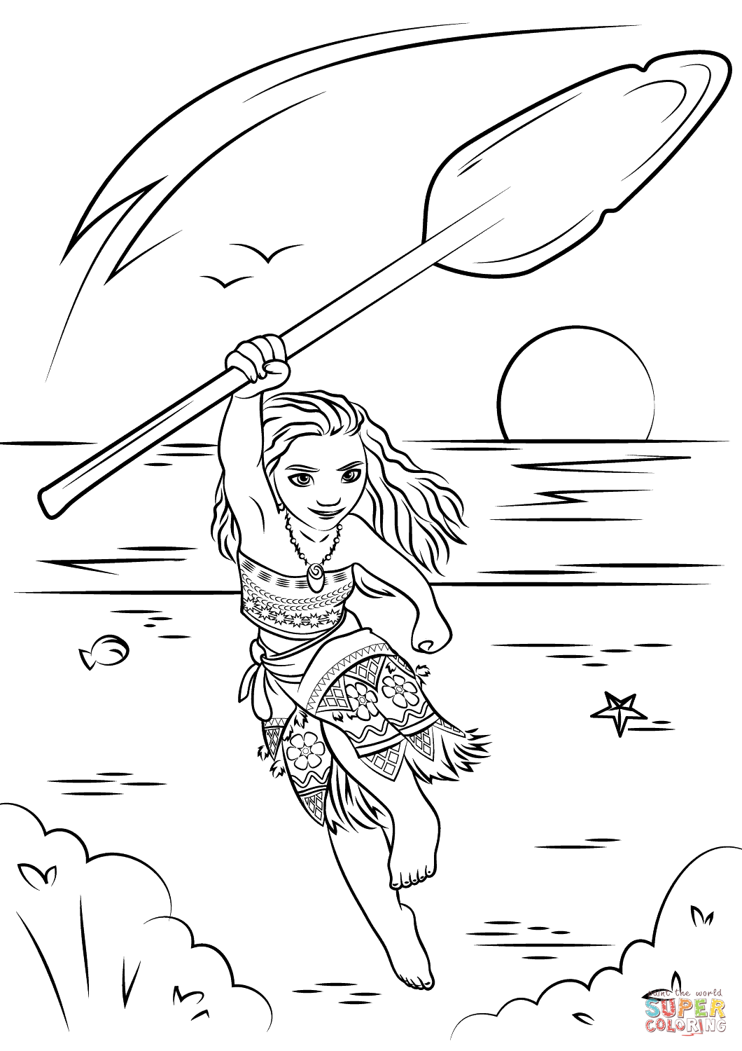 moana coloring | Coloring Pages by Cyberbargins | Pinterest ...